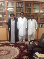 Meeting with Ayottullah Syed Mazhar Ali shirazi, in Qom Iran.